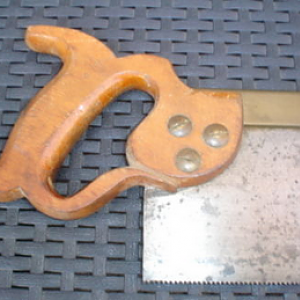 W Tyzack & Turner back saw Rear Handle