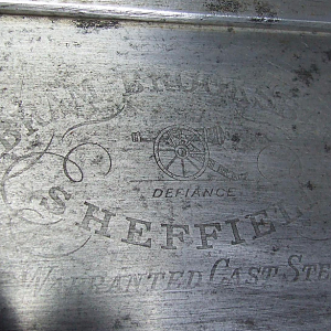 Abraham Brooksbank saw plate etch