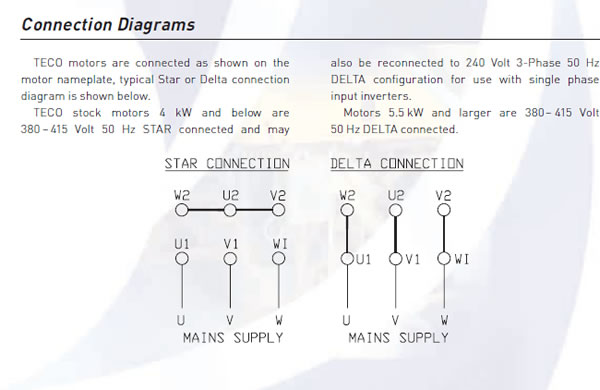 vfd and motor voltages